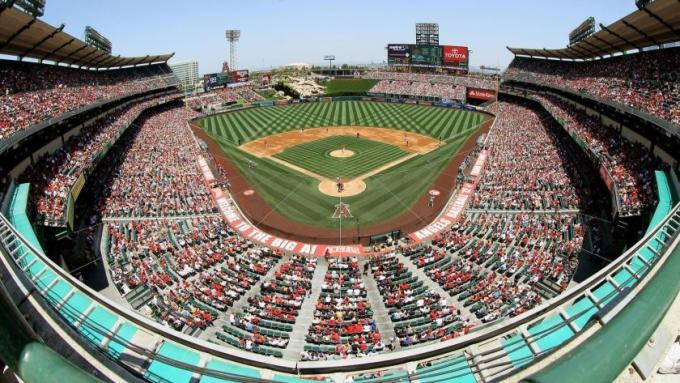 Los Angeles Angels of Anaheim vs. Los Angeles Dodgers at Angel Stadium of Anaheim