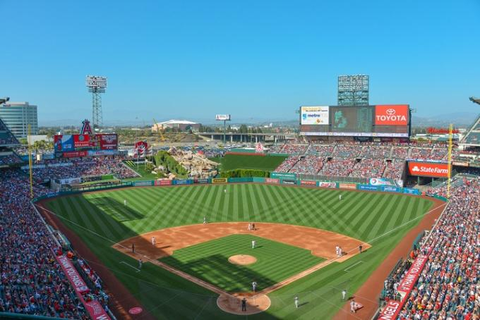 Los Angeles Angels of Anaheim vs. Kansas City Royals at Angel Stadium of Anaheim