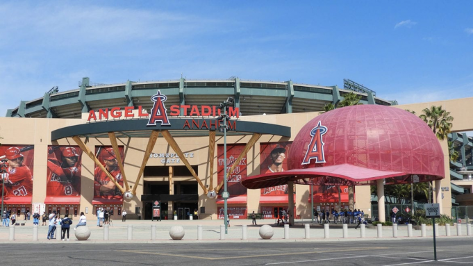 Los Angeles Angels of Anaheim vs. Toronto Blue Jays at Angel Stadium of Anaheim
